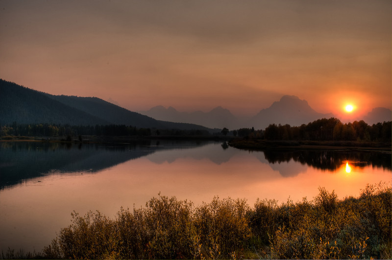 Oxbow Bend, a bend in the Snake River