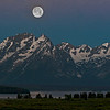 Full moon, Grand Teton National Park