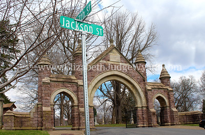 Easton Cemetery, Easton, PA 4/8/2014 The cemetery was added to the National Register of Historic Places in 1990. Architecturally features include a Gothic Revival Gatehouse and office, stable, cemetery chapel, and a Gothic frame workshop.