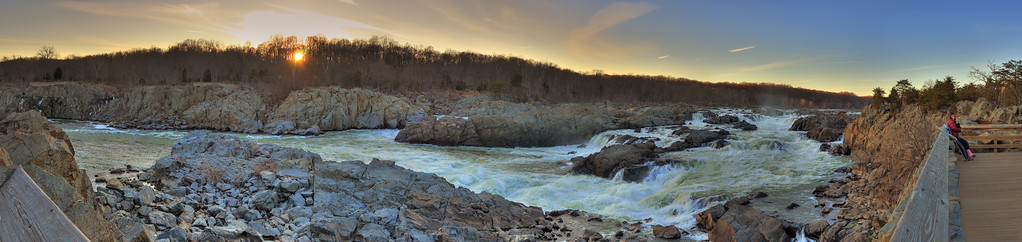 Great Falls at Dusk - 17 Feb 2009