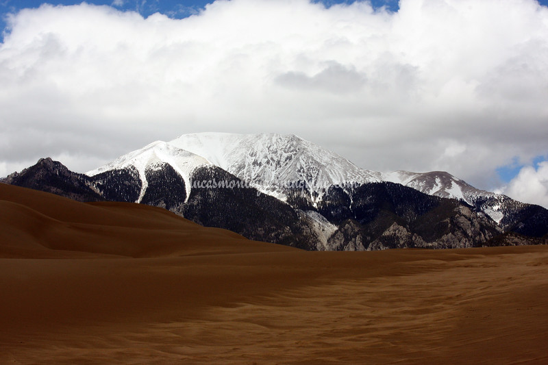 Mt. Herard Overlooking Great Sand Dunes National Park, Colorado - 21 May 2011