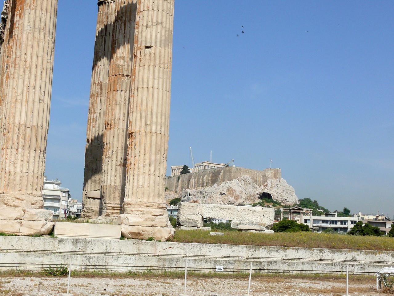 102_793 Greece Acropolis from Temple of Olympian Zeuss