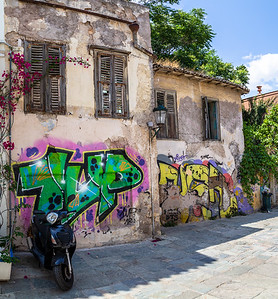 Tagged buildings, Athens, Greece