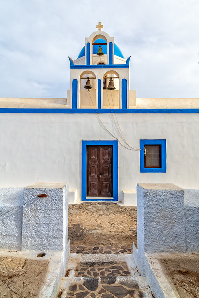 Church upon the hill, Oia to Fira Hike