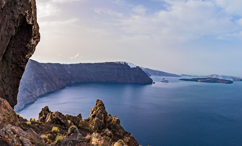 The Oia to Fira is one of the most popular activities for tourists for the island.  About 6.5 miles long, you get to walk the interior of the crater and take in some amazing views of the island and Agean Sea.