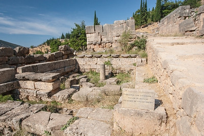Ancient ruins, Delphi, Greece 25 August 2009