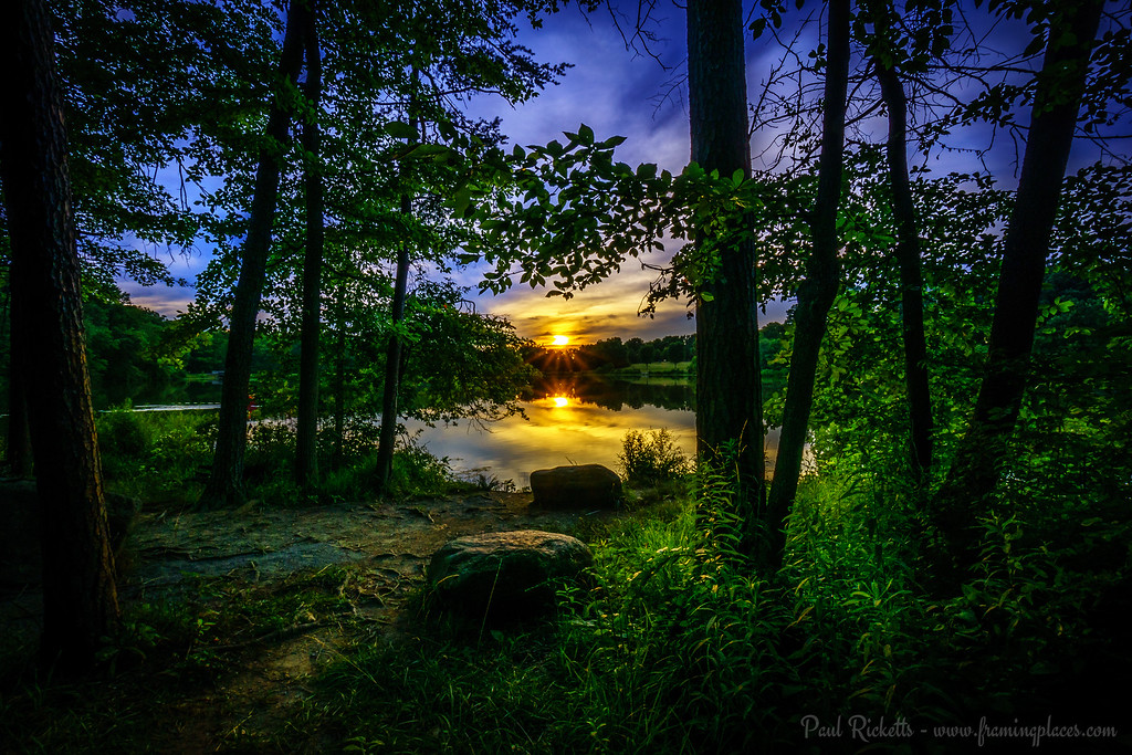 June Sunset at Greenbelt Lake, Greenbelt MD