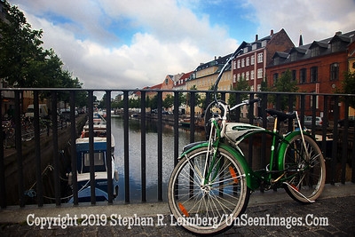Bicycle on Bridge in Copenhagen