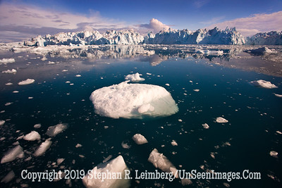 Glacier with Round Berg in Center