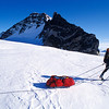 Starting Out<br /> <br /> The beginning of the traverse was close to the mountains, with lots of crevasses.