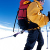 Our Daily Work <br /> <br /> Each day turns in to a rhythm of tasks. In the morning we would spend 2 ½ hours<br /> cooking breakfast, melting snow for water and packing. We skied 8 to 11 hours each <br /> day and then spent 3 ½ hours building an ice wall, setting up the tent, cooking dinner <br /> and melting snow. This left 7 or 8 hours to sleep before we started over the next day.
