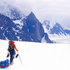 The Paris Glacier <br /> <br /> As we dropped down from our high point to our pick up location at 3,500 feet, crevasses <br /> started to open up and multiple surface streams riddled the glacier. The final 2 miles of our <br /> trip took a half-day to complete.