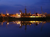 Great Harbour, Greenock by night - SD SALMAID.<br /> 7th May 2011.