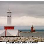Old and New Lighthouse-Mackinac Island, Michigan