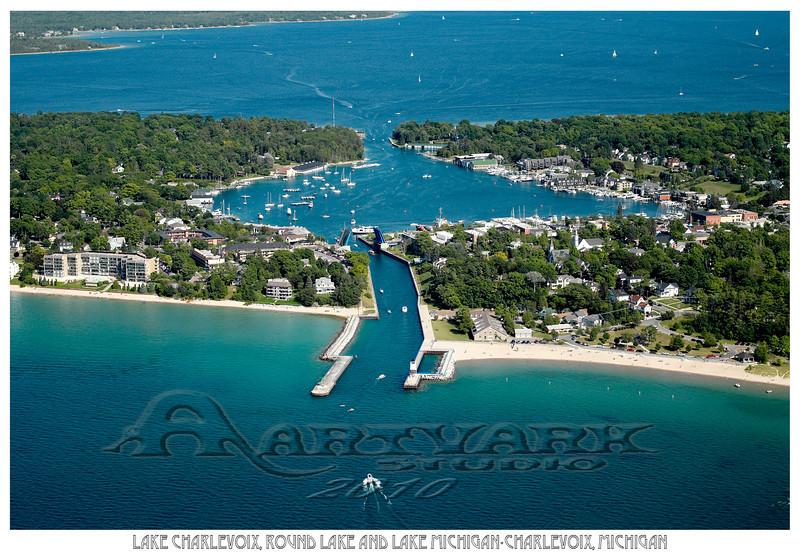 Lake Charlevoix, Round Lake and Lake Michigan-Charlevoix, Michigan