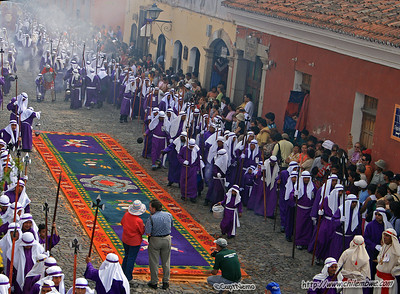 Incense burners in a procession during semana Santa (Holy Week)  Antigua, Guatemala.