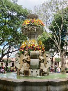 Mermaid Fountain in Central Park. Antigua, Guatemala