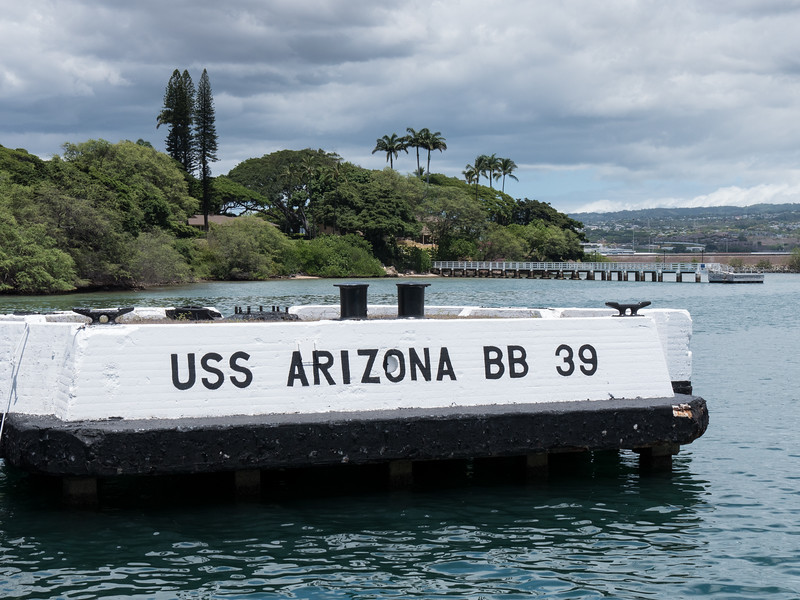 USS ARIZONA MEMORIAL AT PEARL