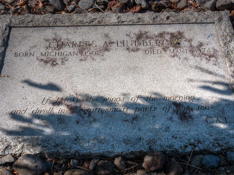 Charles Lindberg's modest grave at remote church on Maui
