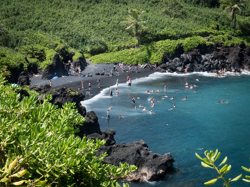 Black Sand Beach at Wai'anapanapa State Park