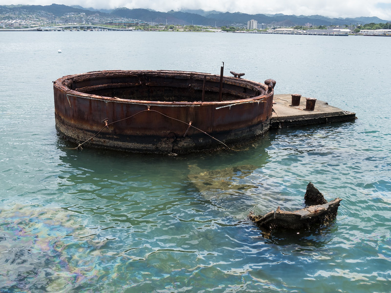 GUN TURRET OF SUNKEN USS ARIZONA