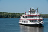 Hannibal, Missouri View of Mississippi River with Mark Twain Riverboat