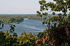 Hannibal, Missouri View of Mississippi River from a park above the town