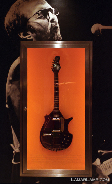 "Hard Rock Hotel - Orlando: One of Eric Clapton's guitars. <a href=""http://www4.ncsu.edu/unit/ users/j/jnwall/html/NikonF4FAQVersion6.0.htm"" target=""_blank"" >Nikon F4s</a> / Fuji Superia Xtra 800"