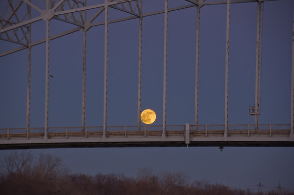 Moon on the Bridge