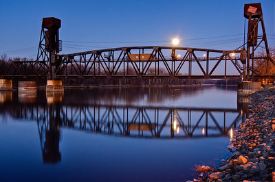 Rail Bridge Night