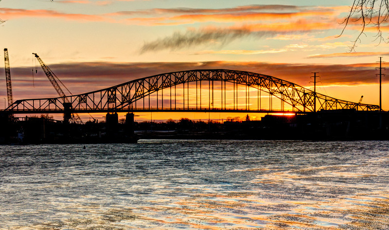 Sunrise at Hastings Bridge