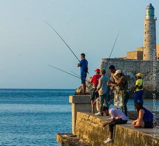 Fishing on the Malacon