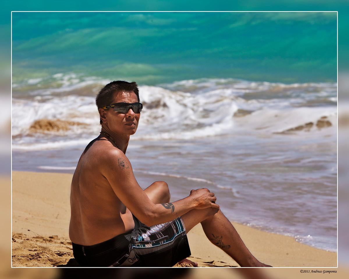 Brian Gamponia - contemplating the ocean.