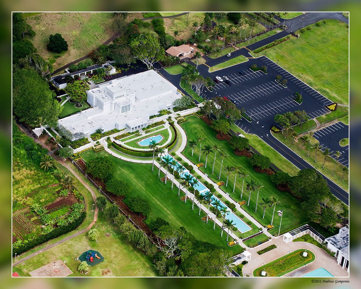 The Laie Hawaii Temple sits on the original Mormon landholdings of Hawaii known as Laie Plantation