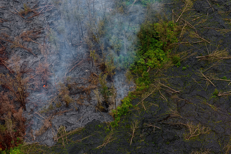 Helicopter tour of Volcanoes National Park and North Shore valleys