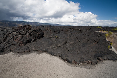 Lava covering Chain of Craters Road