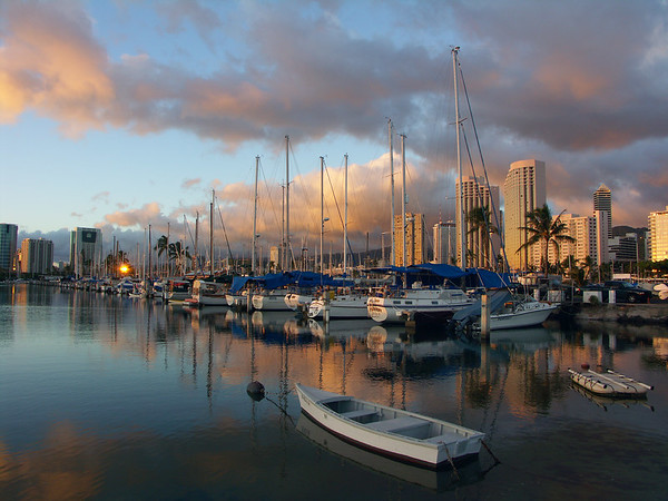 Downtown Honolulu Boat Harbor