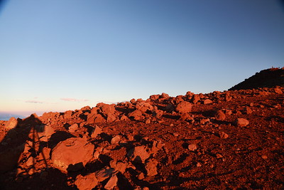 Self-portrait at sunset on Mauna Kea - a very Martian landscape in places.