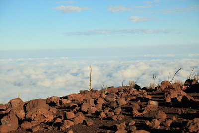 Looking down on the clouds from Mauna Kea.