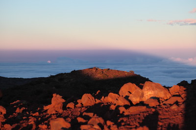 The shadow of Mauna Kea at sunset.