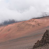 """Clouds rolling into Haleakala's """"crater"""""""