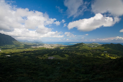 Kaneohe Bay from Pali Lookout