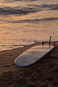 Abandoned surf board