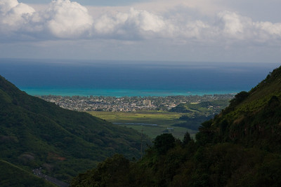 Kailua viewed from Pali's lookout