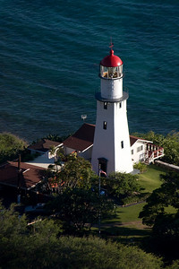 Lighthouse seen from the top of Diamond Head
