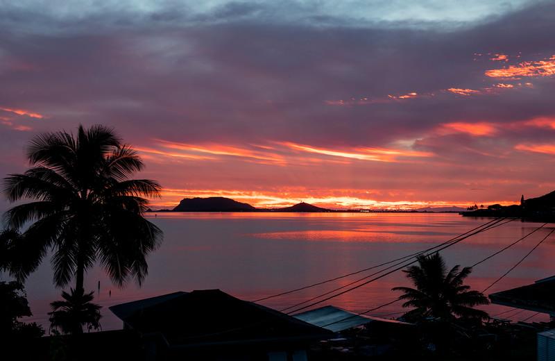 Sunrise over Kaneʻohe