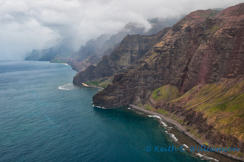 Napali Coast, from the south