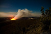 Halema`uma`u Crater - Wide View (See the next couple of shots for a different view)<br /> This is the glow from the Lava Lake in the crater.
