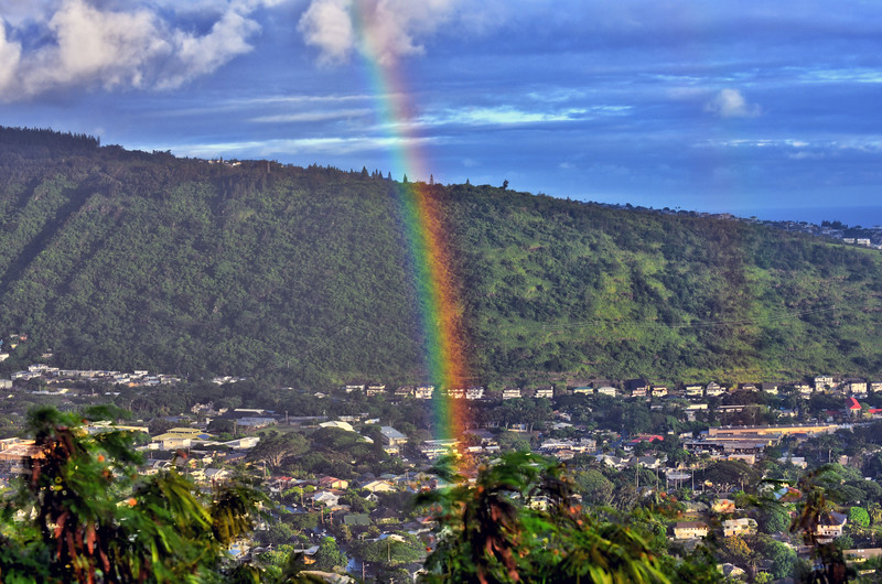 Rainbow over Manoa Valley