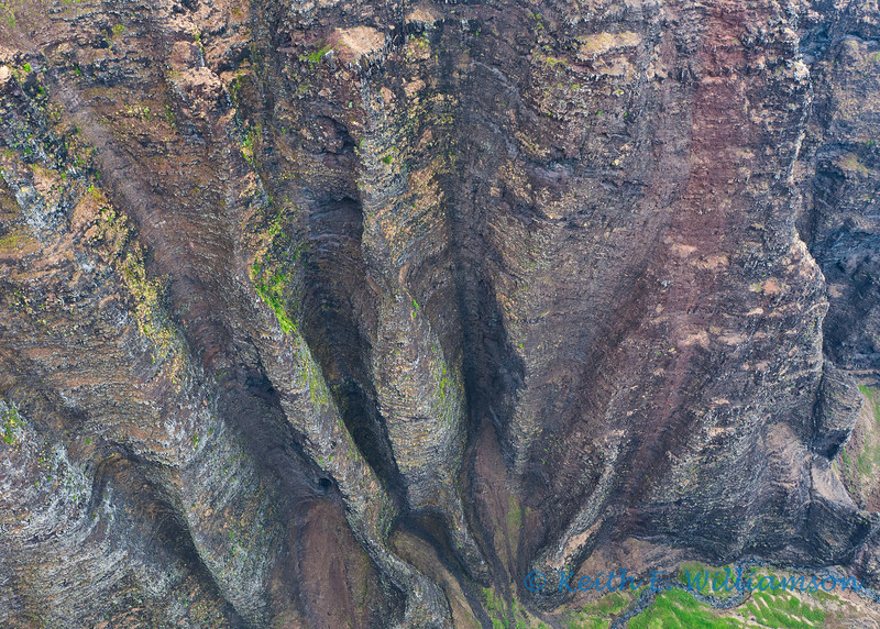 Napali Canyon wall (over a thousand foot drop)